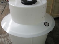Dosing Tank with rain skirt & inspection port CSS