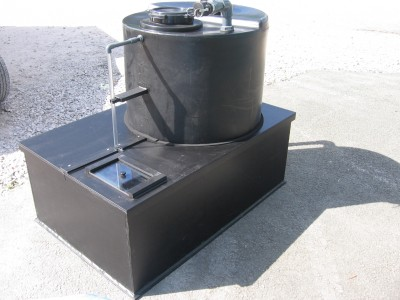 Customised tank/bund with rain cover CSS