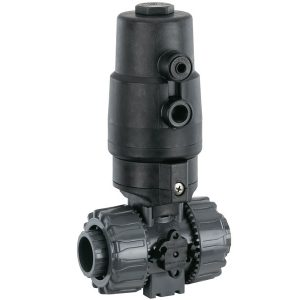 PVC ball valve actuated