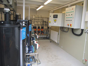 Cooling and boiler dosing system